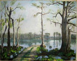 "Francis Speight, Sans Souci, OOC, 30"" x 40"" - Sold $37,400"