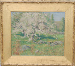 John Leslie Breck - American Impressionist Oil on Canvas - Sold $198,000