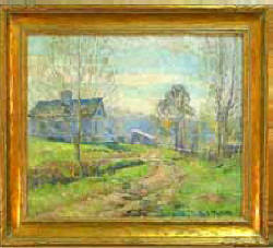 "Oil on Canvas Signed Lucie Hartrath Entitled ""November"" C1918 - Sold $39,600"