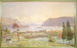 """The Highlands Near Newburgh on the Hudson"" - J. P. Cropsey 1892 - Sold $58,000"